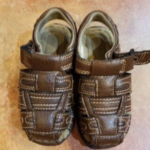 Brown Leather Toddler Boy Sandals